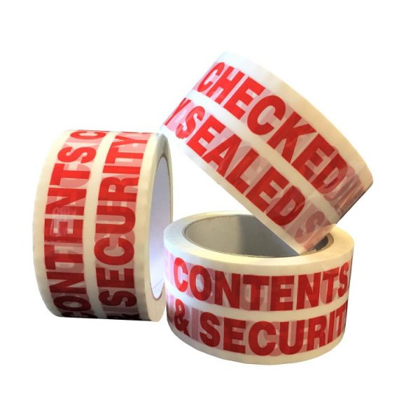 contents checked tape